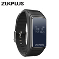 Zukplus Smart Watch Z1 Bluetooth Earphone Wristband OLED Screen Heart Rate Monitor Active Tracker Sports Bracelet