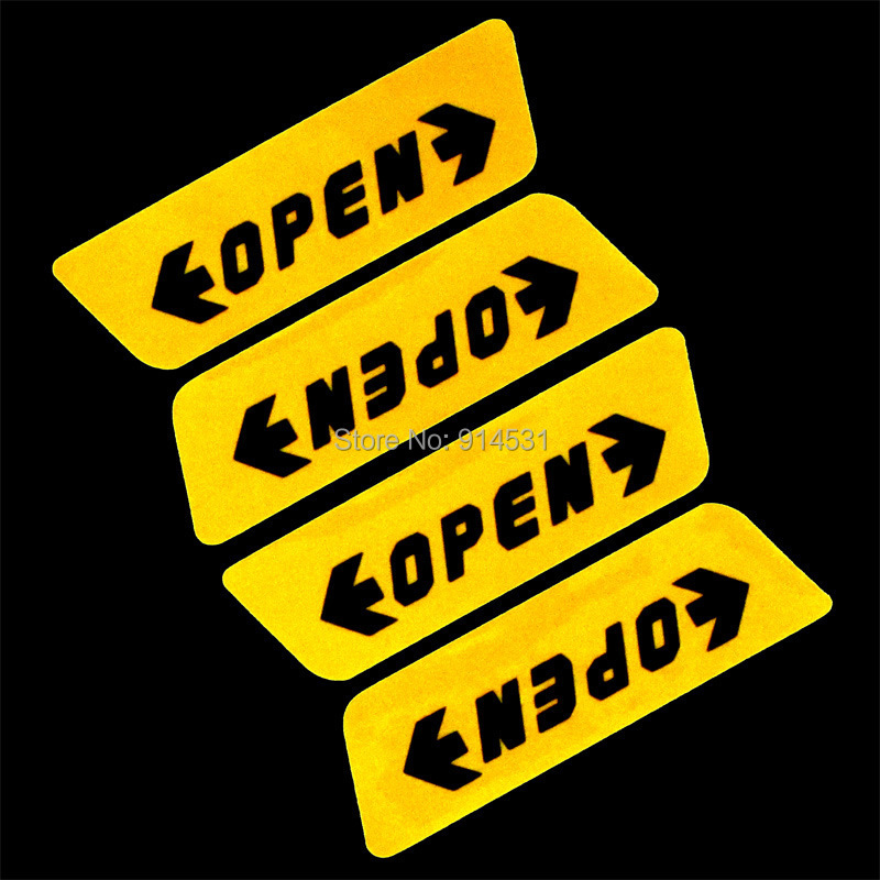 Car Door Opening Warning sticker Automotive Stickers Reflective 20PCS Decals New(China (Mainland))