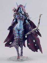 WOW figure toy Lich King Alsace Sylvanas Windrunner classic toys for boys with retail box(China (Mainland))