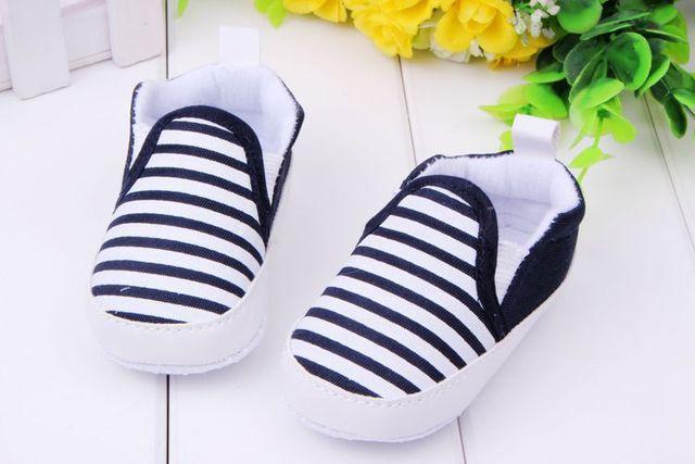 Мальчик сначала ходунки полосатый холст детская обувь