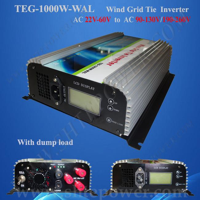 24v/48v wind turbine inverter 1kw, three phase pure sine wave inverter 1000w, best grid tie inverter(China (Mainland))