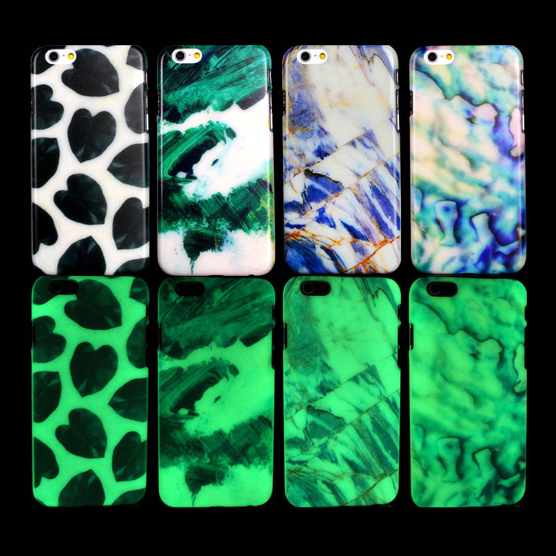 The marble Pattern Hard Cover Glow in The Dark Case for iPhone 5s Case for iPhone 5 for iPhone SE Case(China (Mainland))
