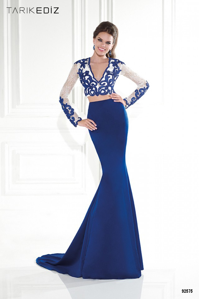 Collection Long Sleeve Blue Maxi Dress Pictures - Reikian