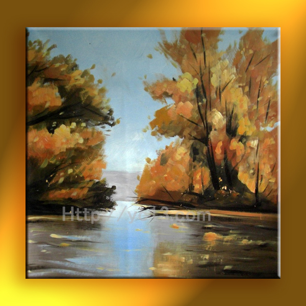 For free shipping 2015 modern fashion landscape oil painting on canvas home decoration(China (Mainland))