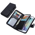 Multi function Removable Magnetic Wallet Flip Leather Stand Card Slots Cover for Samsung Galaxy S4 S5