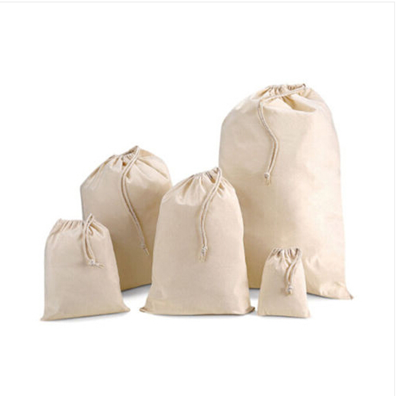 New Sack Drawstring Bag Grocery Gift Packaging Pouch for Wedding Decor Sachet Storage Bags 5 Size(China (Mainland))