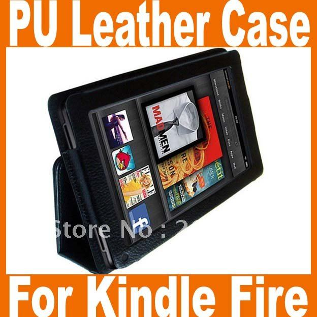BLACKPU Leather Folio Stand Case Cover for Amazon Kindle Fire 7 Tablet Kindle Fire leather case 1PCS/LOT Free shipping(China (Mainland))