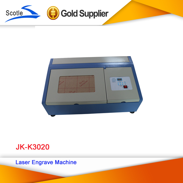 Free Shipping CO2 Laser Engraver Machine JK-K3020 Cutting Printer 220V 40W Laser Cutter Engraving Printing(China (Mainland))