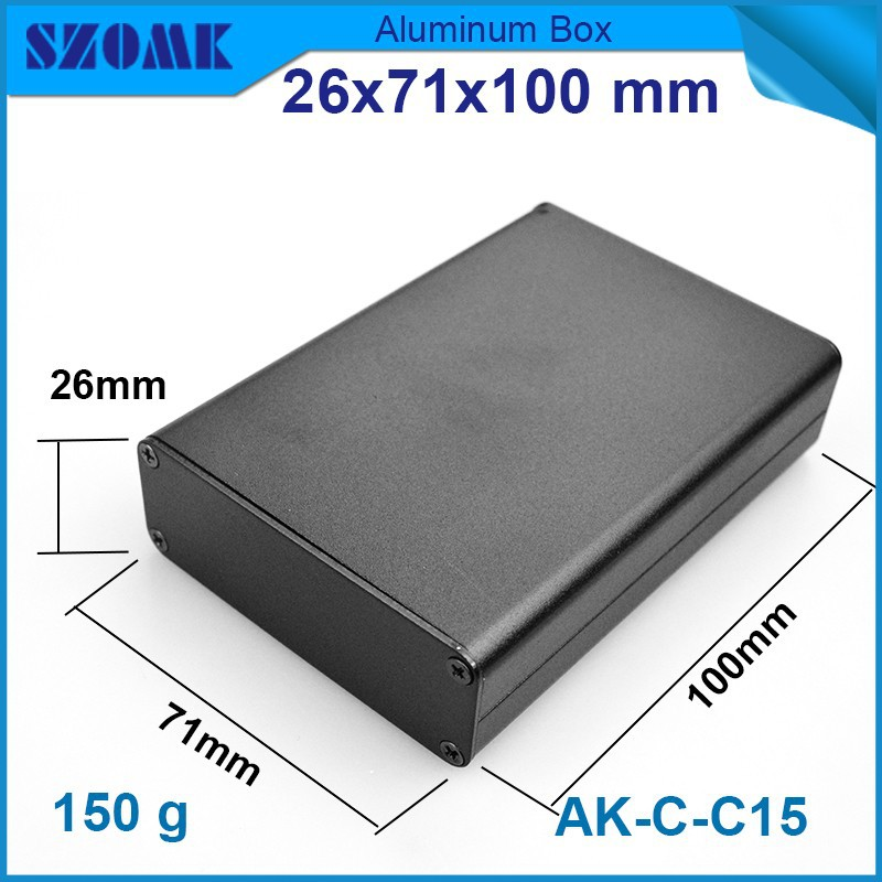 1 piece aluminum housing electrical box Black color anodizing and separated case which fit size pcb 21.5X67mm(China (Mainland))