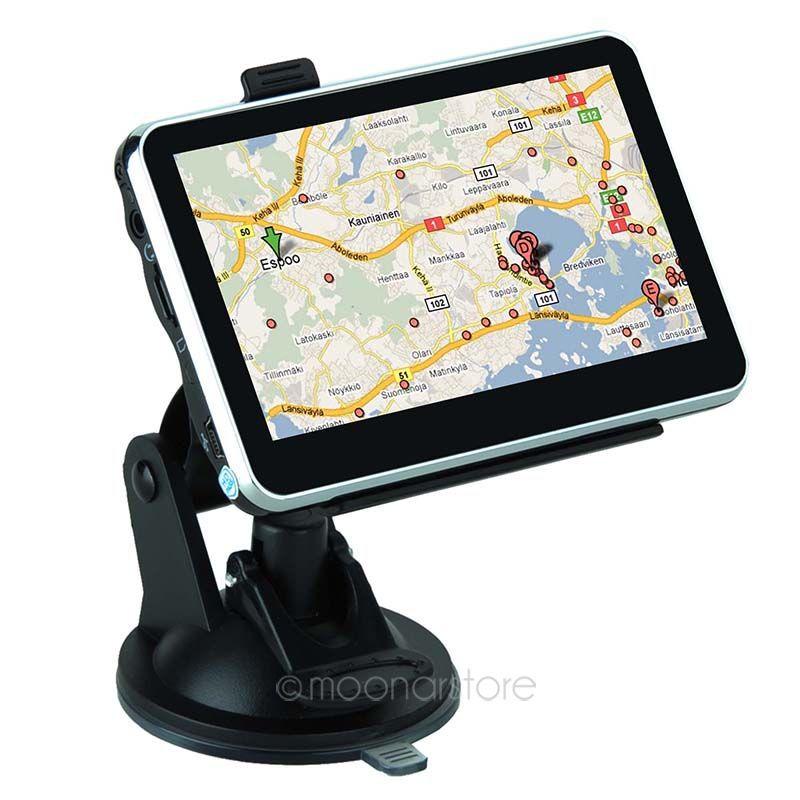 New 4.3 inch LCD GPS Truck Navigation MTK 4GB Capacity UK EU AU NZ Maps Speedcam POI Vehicle GPS For Outdoor Travel FYDA1108(Chin