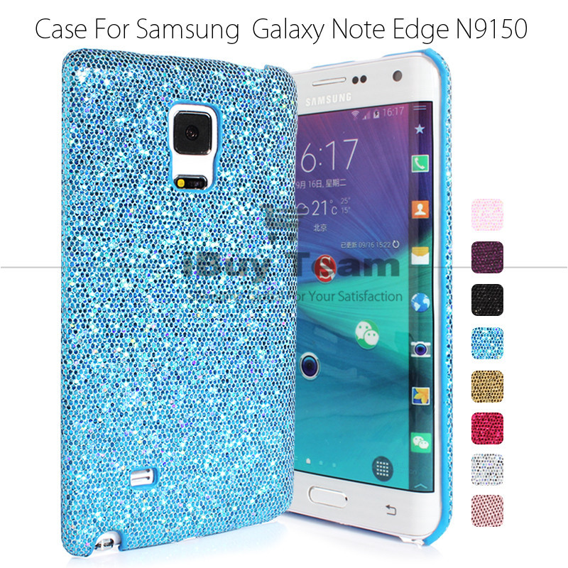 Ultra Slim Luxury Case for Samsung Galaxy Note Edge Bling Back Cover Durable Protective Shell for Galaxy Note Edge N9150 Blue(China (Mainland))