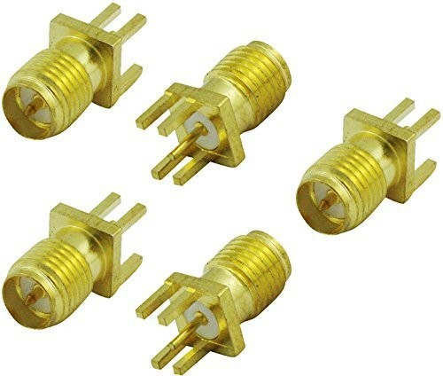 50pcs Gold RP-SMA Female Plug Center Solder PCB Clip Edge Mount RF Coxial Connectors for Mobile Signal Booster Repeater Antennas(China (Mainland))