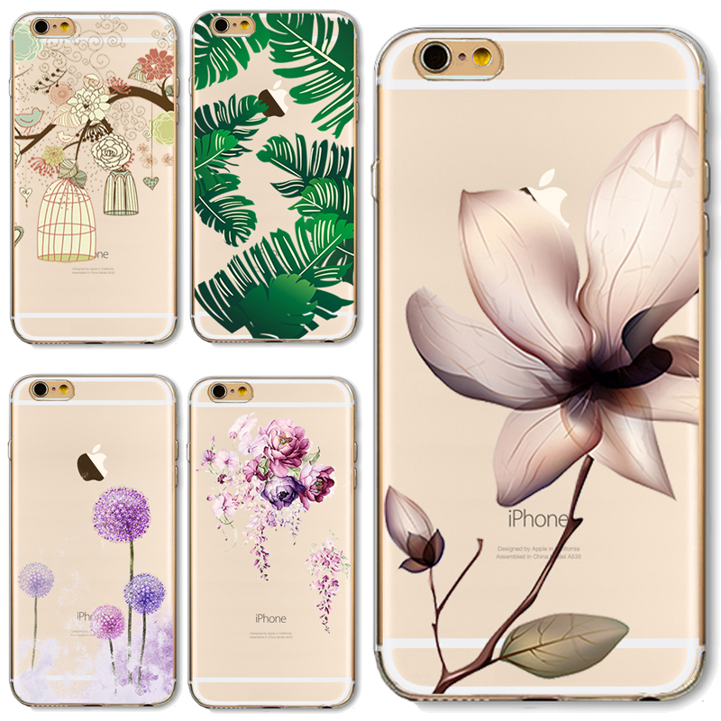 6/6S Soft TPU Case Cover For Apple iPhone 6 6S Cases Phone Shell Fashion Flower Adorkable Birds Pineapple Pattern Top Popular(China (Mainland))