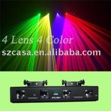 4 линзы 4 цвет зеленый + фиолетовый + желтый + красный лазерный проектор DMX DJ диско ну вечеринку DJ освещение — бесплатная доставка