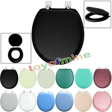 "NEW 17""PVC Padded Soft Toilet Seat Cushioned Soft Round Standard Size Hinges Plastic(China (Mainland))"