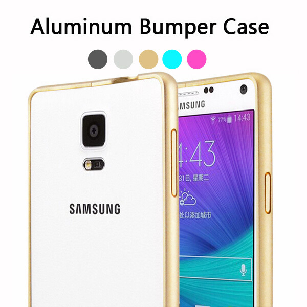 Ultrathin Luxury Brand Case For Samsung Galaxy Note 4 Bumper Aluminum Metal Case N9100 Phone Covers Capa Funda Note4 Accessories(China (Mainland))