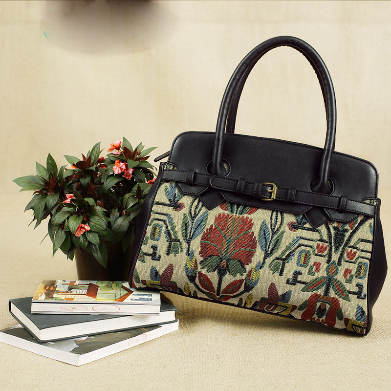 113 womens handbag 2016 handbag bag vintage leather bag patchwork cotton prints shoulder bag 843170202<br><br>Aliexpress