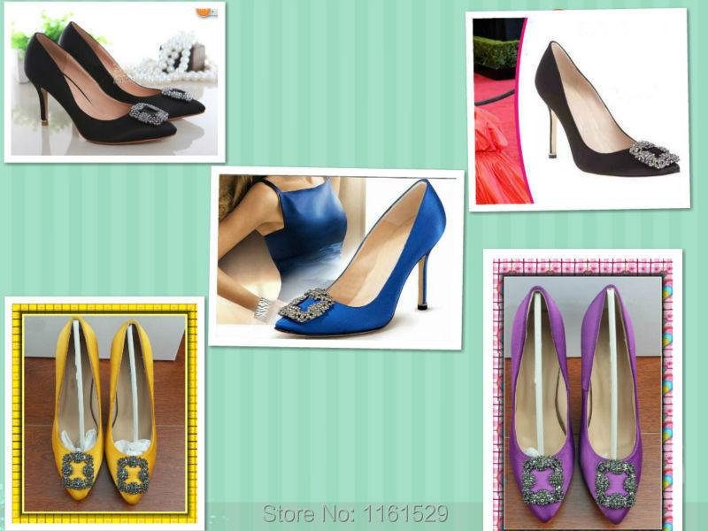 Factory Outlets Swarovsky Crystals heels women,Brand Rhinestones 8cm/10cm high heel shoes,Luxury Satin Customized Logo pumps(China (Mainland))