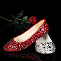 Beautiful red gold silver blue many colors available flat party shoes Rhinestone Bridal Wedding Shoes Club