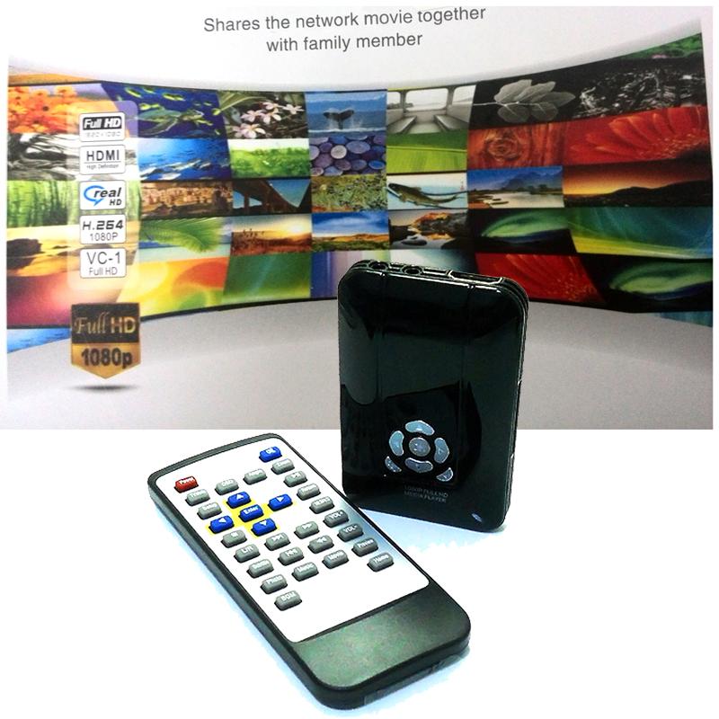 HD Media Player MPEG/MKV/H.264/RMVB Full 1080p Mini HDD Players with HDMI AV Port USB Host SD Card Reader Slot IR Remote Control(China (Mainland))