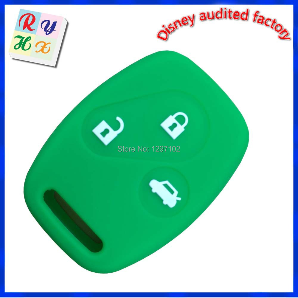 with car logo silicone rubber car remote control key case cover for Hond
