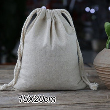 "Cotton Linen Gift Bag 15X20cm(6""x8"") pack of 50 Wedding Party Favor Holder Jewelry Muslin Drawstring Packaging Pouch(China (Mainland))"
