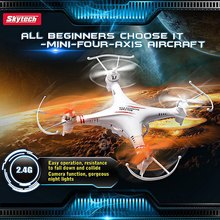 2016 Hot Sale Skytech M62 4 Channel 2.4GHz RC Quadcopter of 6 Axis Gyro with Flash Lights remote control toys helicopter drone
