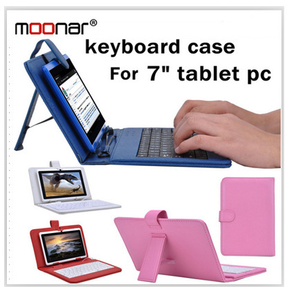 Colourful Portable USB Keyboard Faux Leather Case With Stylus Pen For 7 inch Tablet PC DA0091 -30