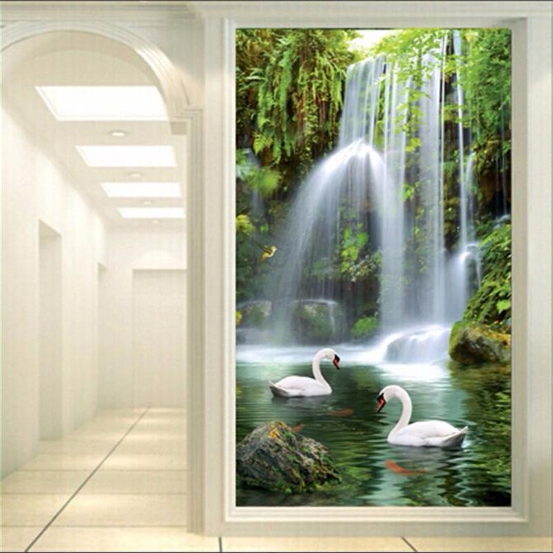 Waterval muurschildering behang promotie winkel voor promoties waterval muurschildering behang - Corridor schilderen ...
