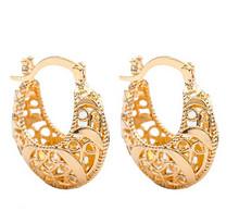 NEW Gold PlatedEarring Jewelry Round Cut Zircon Pha Lê Nữ Bông Tai cho Wedding Engagement(China)