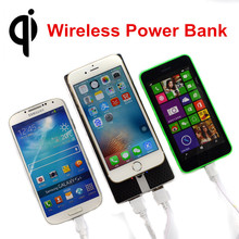 Qi Wireless 8000mAH Power Bank with Dual USB Port External Battery Pack Wireless Charger Pad for Qi Smart Phones Samsung iPhone