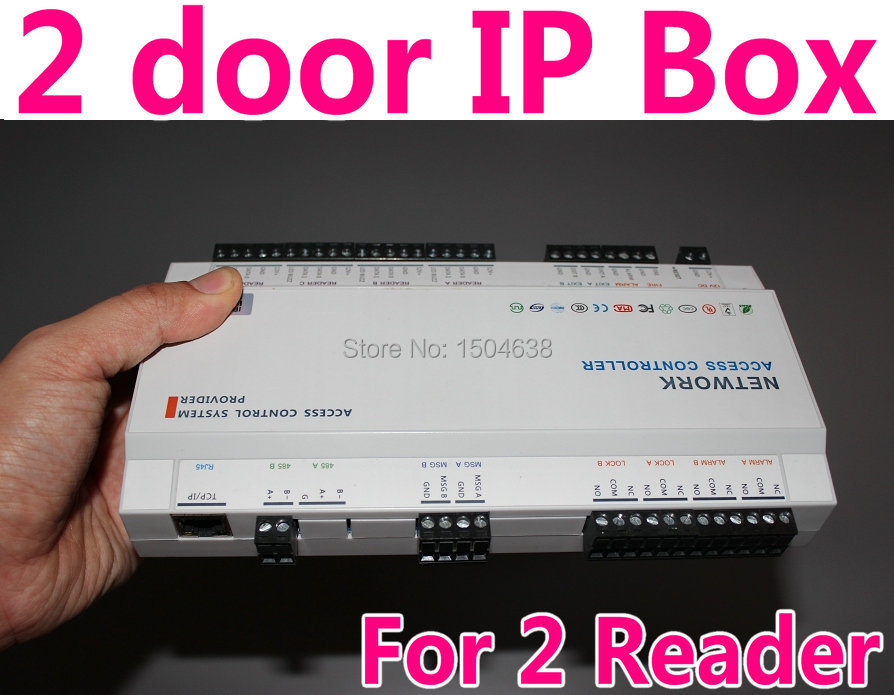 2 Door IP Control Box 2 Door Magnetic/Strike/Bolt Lock Support Web Server TCP/IP Software Remote Control Global control 2 reader(China (Mainland))
