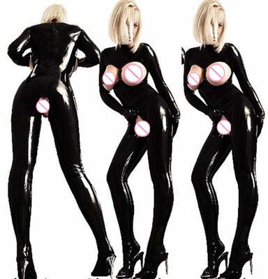 Crotch latex en cuir lingerie pvc