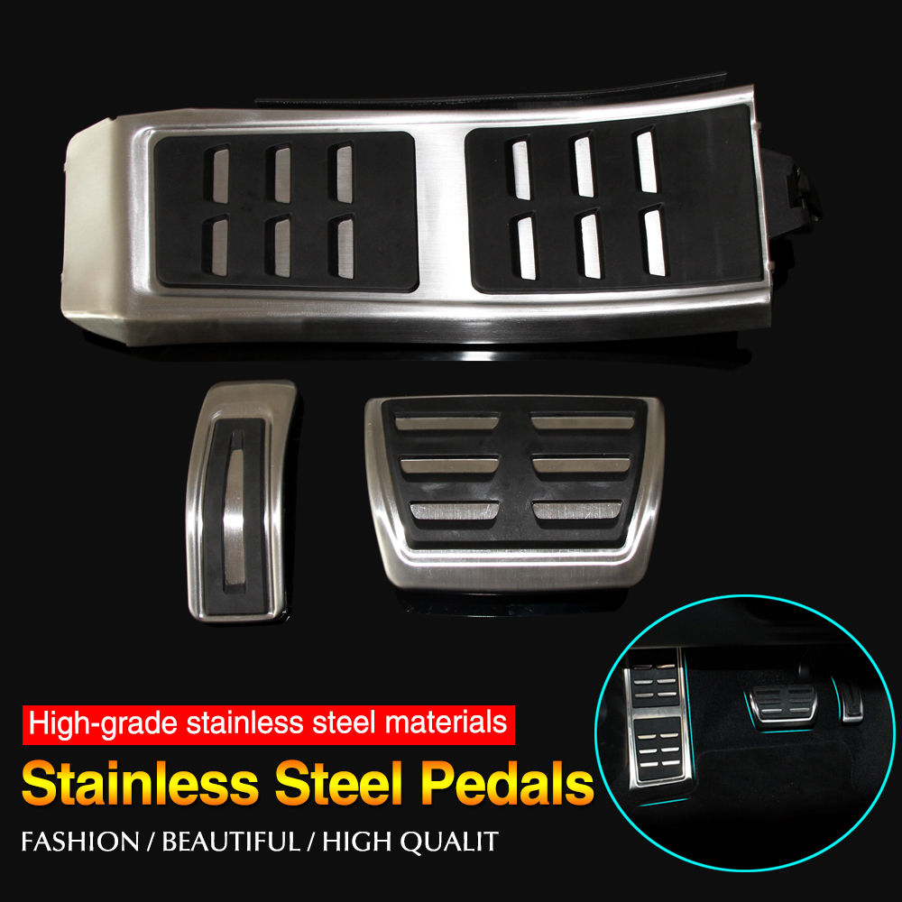 Gas Brake Foot Pedal Set Rest Fuel Pedals Fit for AUDI A4 S4 RS4 A5 S5 RS5 8T A6 4G S6 (C7) Q5 S5 RS5 A7 S7 SQ5 8R LHD 2009 +(China (Mainland))