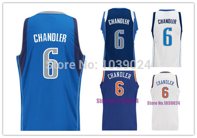 New Arrival Dallas #6 Tyson Chandler Jersey White Blue Stitched Best Quality Chandler Royal Blue Basketball Jersey Online Sale(China (Mainland))
