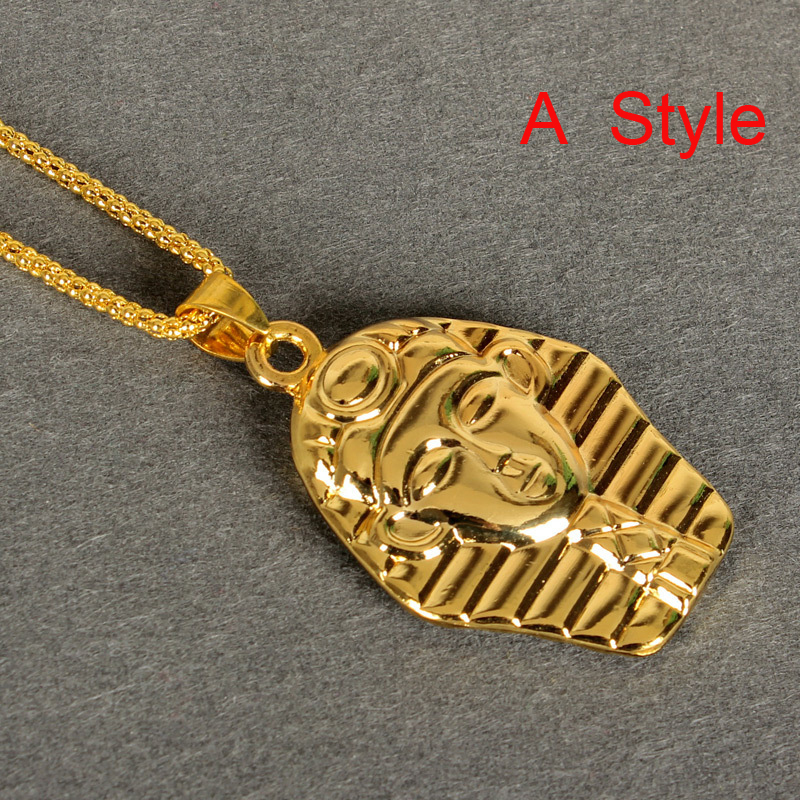 2014 New Fashion 18K Gold/silver Plated Egypt Pharaoh/last king necklaces & pendants Women Men hip hop long necklace jewelry - Boutique Phone Case Store store