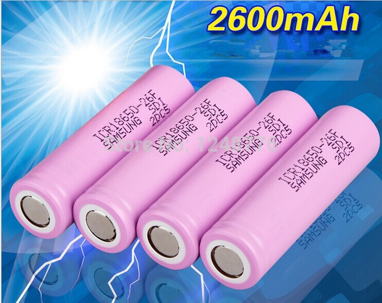 Гаджет  10X  Pcs 3.7V 18650 battery samsung 2600mah  Li-ion Rechargeable Battery for Flashlight Hot New 3.7v None Бытовая электроника