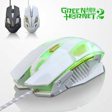 Новое Ajazz зеленый шершень II USB проводная эргономичный оптическая игровая мышь пк геймер мышей компьютерные maus для dota 2 cs go lol