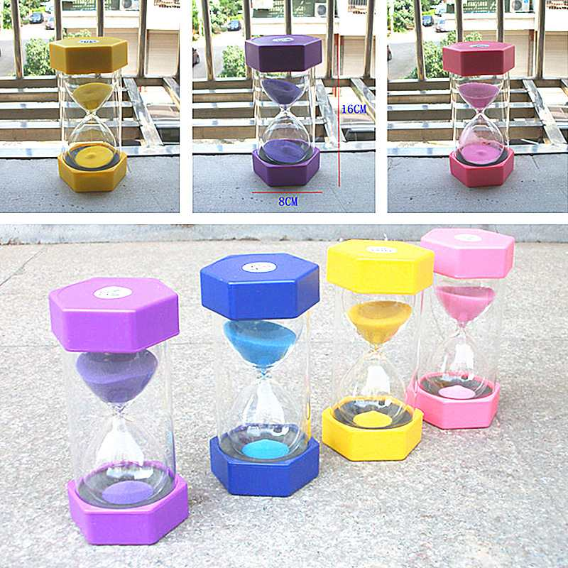 Colorful Sand Glass Sandglass Hourglass Clock Watch Timer 20 Minutes Home Desk Decor Birthday Gift(China (Mainland))