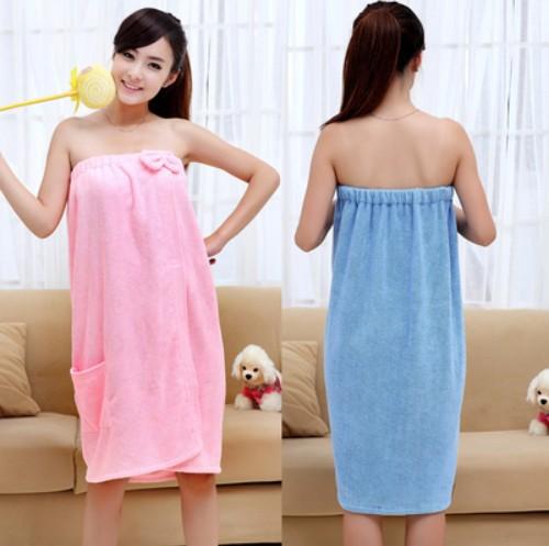 New 2015 Summer Spring Women Bowknot Changeable Super Absorbent Bath Towel Beach Strapless Bathrobe Girl Sauna Hot Spring Robe(China (Mainland))