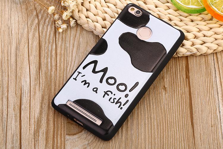 Cute Cartoon Daisy Duck Cat Relief Painting Soft TPU Coque Funda for Xiaomi redmi 3s Phone Case Cover Accessories