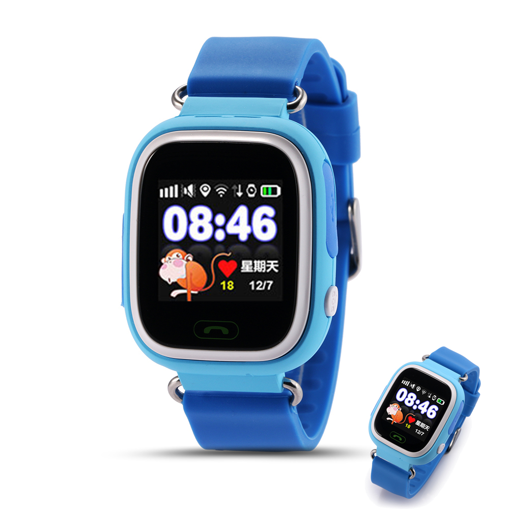 Q90 Touch Screen WIFI Positioning GPS Smart Watch Children SOS Call Location Finder Device Tracker Kid Safe Anti Lost(China (Mainland))