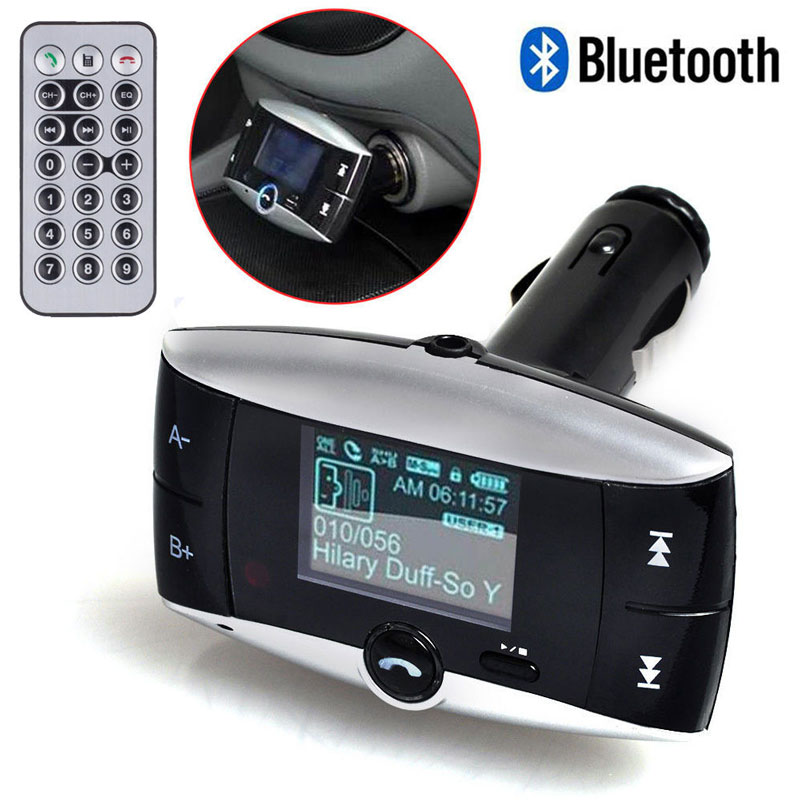 "1.5"" LCD Screen Wireless Bluetooth Car Kit MP3 Player FM Transmitter Radio Adapter With ID function Speakerphone+Remote Control(China (Mainland))"