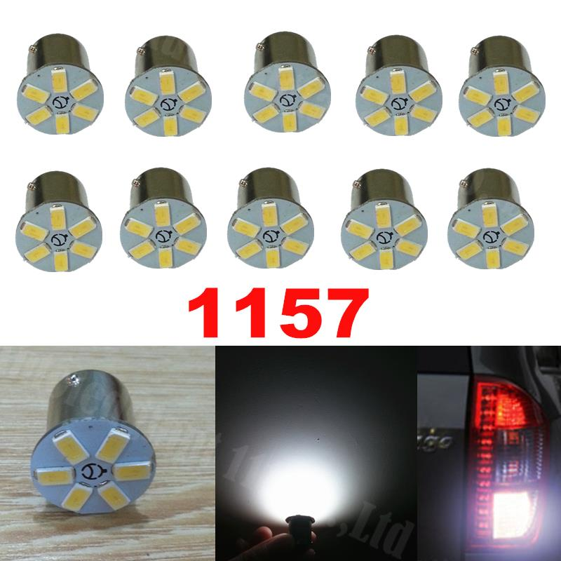 10x High Power White 1157 BAY15D Led 6 SMD 5630SMD Turn Stop Brake Light Tail Lamp Bulb Car Auto LED Light bulb 12V(China (Mainland))