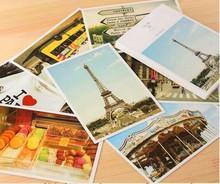 Viatage стиль плакат память один почтовая открытка открытки подарок открытки декупаж карта