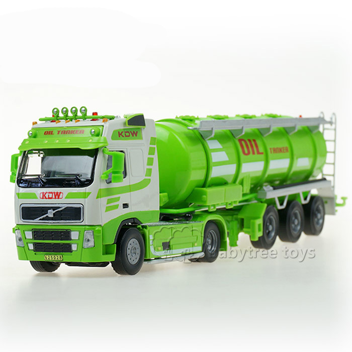 Free Shipping NEW KDW 1/50 Scale Diecast Oil Tanker Truck Vehicle Car Hobbies Classic Truck Model Toys for Collection(China (Mainland))
