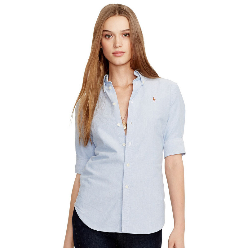 Hot sale 2015 women 39 s solid polo ralp half sleeve shirts for Women s company logo shirts