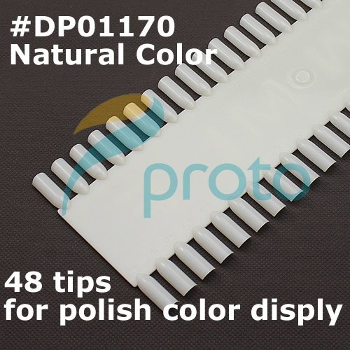10PCS Natural nail art display Chart Color display wheel Nail Polish Display 40 Colors Wholesales F0031X