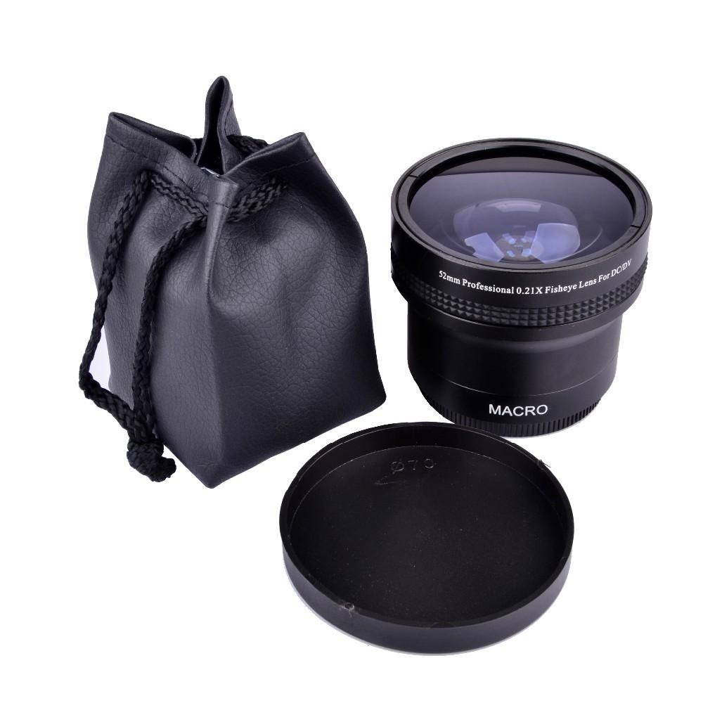 Super 0.21x 52mm HD Fisheye Macro Wide Angle Lens filters for Nikon for Canon D5500 D5300 D5200 D5100 D3200 D7100 D7000 D5300(China (Mainland))