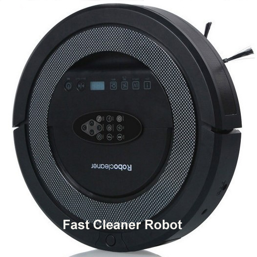 New Coming Black Color Robot Floor Cleaner Double side brushes,UV sterilize,Schedule Function,Ultrasonic wall,(China (Mainland))